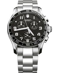 Victorinox - Mens Chrono Classic Stainless Steel Watch - Lyst