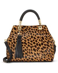 Vince Camuto - Elva Leather And Calf Hair Satchel - Lyst