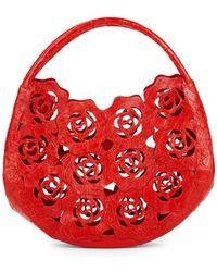 Nancy Gonzalez - Leather Rose Cut-out Bag - Lyst