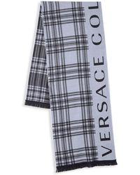 Versace - Striped Logo Scarf - Lyst