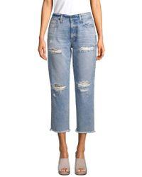 ei8ht dreams - Cropped Distressed Jeans - Lyst