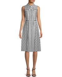 Julia Jordan - Sleeveless Striped Shirtdress - Lyst