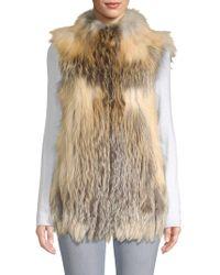 Belle Fare - Vertical Full Skin Cross Fox Fur Vest - Lyst