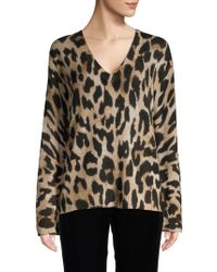 Skull Cashmere - Leopard Cashmere Sweater - Lyst