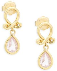 Temple St. Clair - 18k Yellow Gold Loop Earrings - Lyst