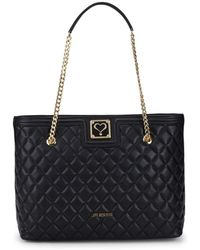 Love Moschino - Quilted Chain Faux Leather Tote - Lyst