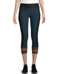 X By Gottex - Striped Mesh Capri Leggings - Lyst