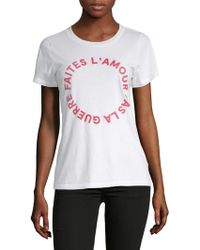 French Connection - Faites L'amour Cotton Tee - Lyst