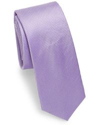 Saks Fifth Avenue - Dotted Silk Tie - Lyst