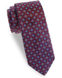 Eton of Sweden - Floral Silk Tie - Lyst