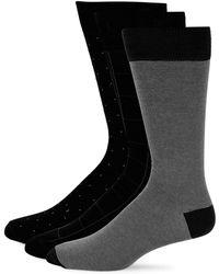 Saks Fifth Avenue - Three-pack Cotton Crew Socks - Lyst