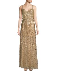 Adrianna Papell - Embellished Blouson Dress - Lyst