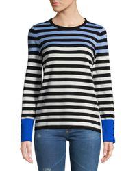 Karl Lagerfeld - Striped Long-sleeve Sweater - Lyst