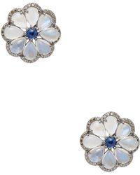Arthur Marder Fine Jewelry - Silver & Multi-stone Stud Earrings - Lyst