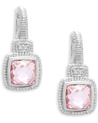 Judith Ripka - Crystal Cushion Drop Earrings - Lyst