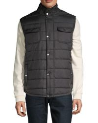 American Stitch - Quilted & Filled Vest - Lyst