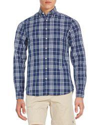 GANT - Fitted Plaid Cotton Sportshirt - Lyst