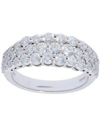 Nephora - Pavé Diamond White Gold Ring - Lyst