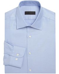 Ike Behar - Micro Striped Shirt - Lyst