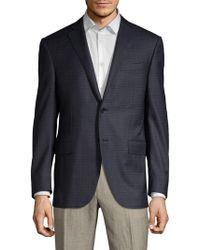 Corneliani - Classic-fit Virgin Wool Check Sport Coat - Lyst
