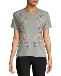 Philosophy By Republic - Floral Cotton Tee - Lyst