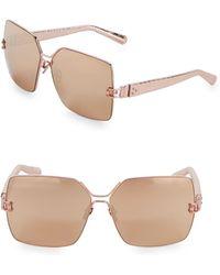 c4dc39b4e6d7 Linda Farrow - Snakeskin Engraved 65mm Square Sunglasses - Lyst
