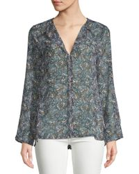 B Collection By Bobeau - Christy Printed Hi-lo Blouse - Lyst