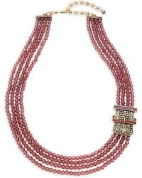 Heidi Daus - Buckle Beaded Multi-strand Necklace - Lyst
