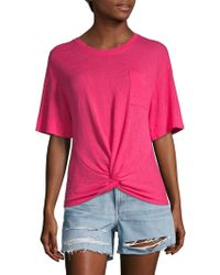 Sanctuary - Slub Twist Tee - Lyst