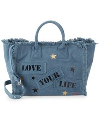 Peace Love World - Statement Cotton Tote - Lyst