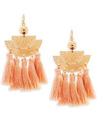Panacea - Tassel Drop Earrings - Lyst