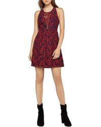 BCBGeneration - Corded Lace Fit-and-flare Dress - Lyst
