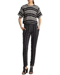 Apiece Apart - Luca Woven Striped Track Trousers - Lyst