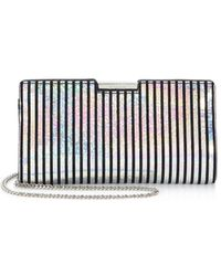 MILLY - Small Frame Leather Clutch - Lyst