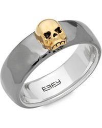 Effy - Sterling Silver Skull Ring - Lyst