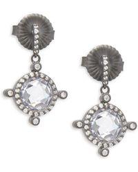 Freida Rothman - Tiara Sterling Silver Drop Earrings - Lyst