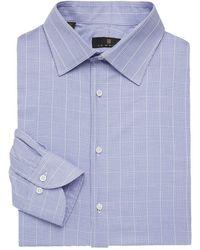 Ike Behar - Regular-fit Graph Check Dress Shirt - Lyst