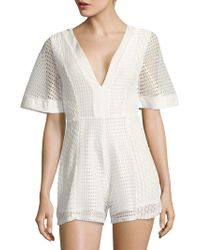 State Of Being - Short-sleeve Dreamer Playsuit - Lyst