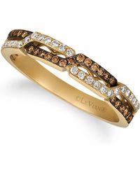 Le Vian - 14k Honey Gold, Vanilla Diamond & Chocolate Diamond Ring - Lyst
