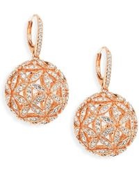 Adriana Orsini - Round Ball Post Earrings - Lyst