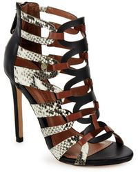 BCBGMAXAZRIA - Valentia Leather Open Toe Sandals - Lyst
