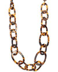 Kenneth Jay Lane - Tortoise Pattern Chain Necklace - Lyst