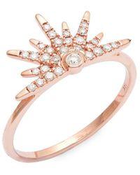 Artisan - 14k Rose Gold & Diamond Ring - Lyst