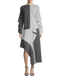 Robert Rodriguez - Asymmetric Colorblock Skirt - Lyst