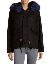 AVA & KRIS - Cotton Dani Dyed Fox Fur Parka - Lyst