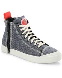 DIESEL - Zip-round Mid-top Sneakers - Lyst
