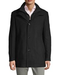 BOSS - Classic Spread Collar Topcoat - Lyst