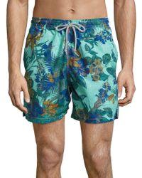 Saks Fifth Avenue - Hawaiian Floral Printed Swim Shorts - Lyst