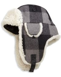 Crown Cap - Shearling Trapper Hat - Lyst