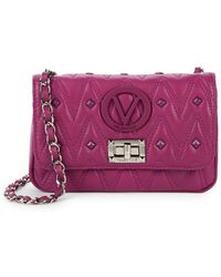 Valentino By Mario Valentino - Noel Leather Crossbody Bag - Lyst